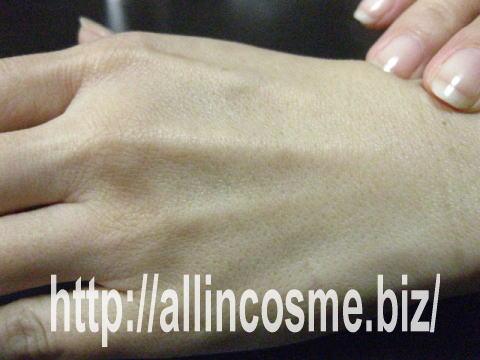 ライスビギンオールインワンエマルジョンNo11を馴染ませた肌の写真
