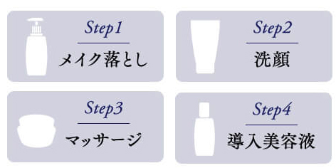 メイク落とし・洗顔・マッサージ・導入美容液